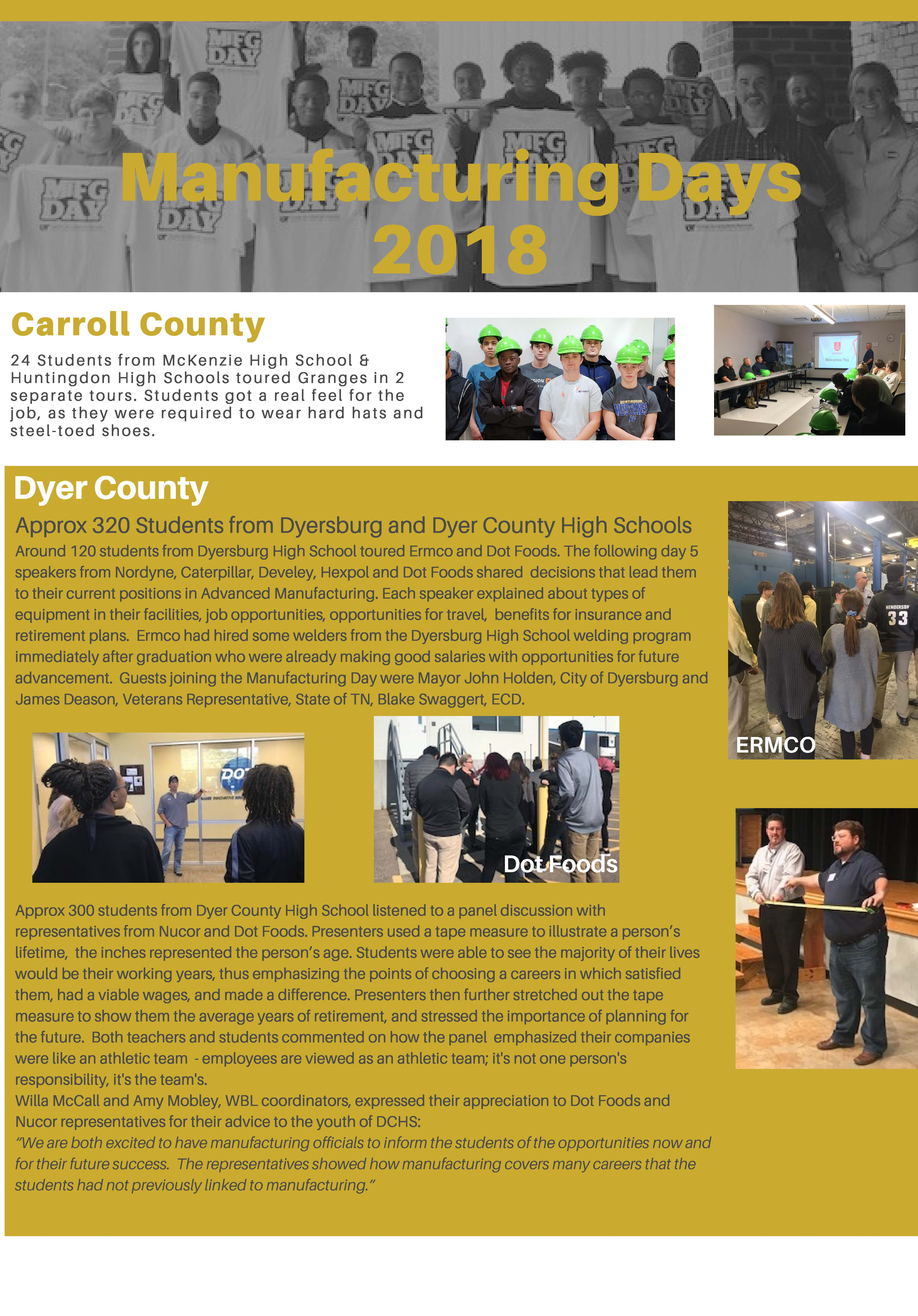 Manufacturing Days 2018 flyer Page 1