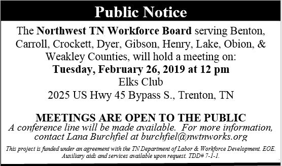 Public Notice Board Meeting 2.26.19